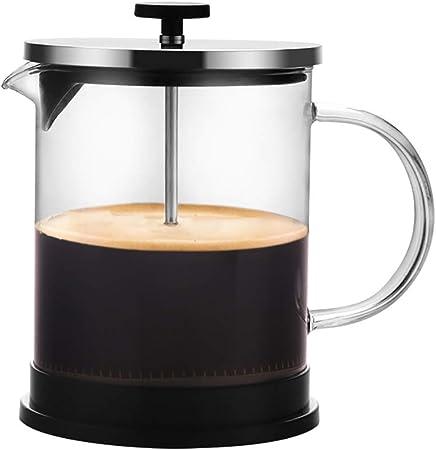FYHKF Cafeteras de émbolo Cafetera Francesa a presión Tetera de café Espesada Alta Resistencia a la Temperatura de la Tetera 600 / 1000ml (Tamaño : 175 * 165mm(1000ml)): Amazon.es: Hogar