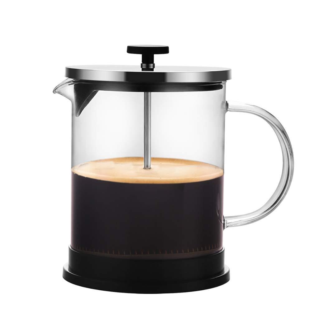 Acquisto FYHKF Caffettiere a pistone Caffettiera a Pressione Francese Vetro Addensato Teiera caffettiera 600 / 1000ml ad Alta Temperatura (Dimensioni : 175 * 165mm(1000ml)) Prezzi offerta