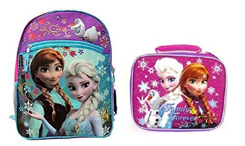 Disney Frozen 16″ Backpack & Lunch Bag ~ Elsa & Anna Family Forever For Sale