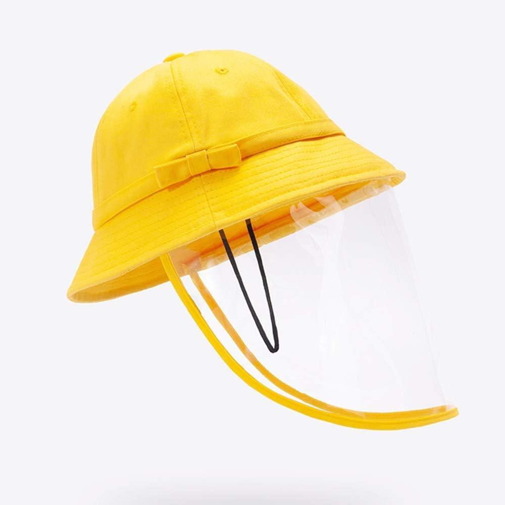 ChenIT Sombrero Protector De Pescador Gorras Transparentes de Protección Ocular Antiniebla Unisex Sombrero Sombra Antipolvo para Cara Completa Niño De Protección Adecuado para Los Estudiantes