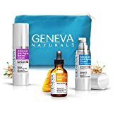 All-In-One Skin Care Kit: Natural Swiss Anti-Aging Products Vitamin C Serum (1.0 oz), Face Moisturizer with SPF 20 (1.0 oz) & Retinol Night Cream (1.0 oz) for Men and Women For Sale