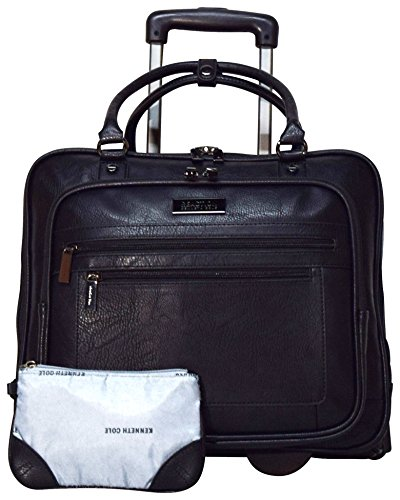 Kenneth Cole Reaction Wheel Fast Double Compartment Top Zip Wheeled Computer Case Overnighter (Black) by Kenneth Cole REACTION (Image #4)