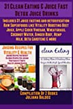 img - for 31 Clean Eating & Juice Fast Detox Juice Drinks: Includes 31 Juice Fasting & Detoxification Raw Superfoods Like Vitality Boosting Beet Juice, Apple ... Ginger Root, Hemp Milk, Beta Carotene & More book / textbook / text book