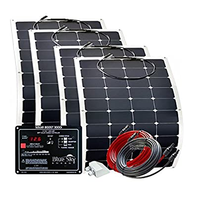 Unlimited Solar FreshWave Series 200 Watt 12 Volt RV Solar Panel Flex Kit with MPPT charge controller