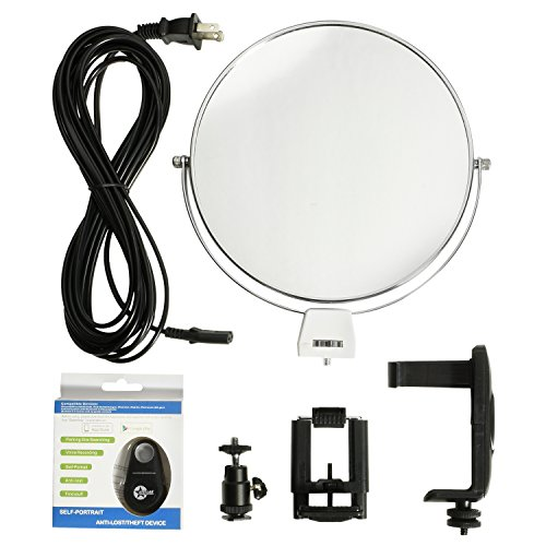 Stellar 18'' LED Diva II Ring Light (Black) w/Wireless Bluetooth Camera Shutter Remote Control for IOS & Android Phones and Universal Smartphone Tripod Mount & Adapter For Most Smartphones by Calumet (Image #7)