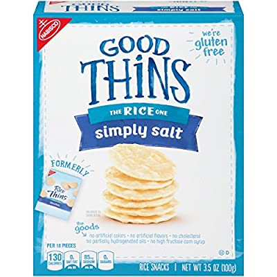 Good Thins Simply Salt Gluten Free Rice Snack Crackers - 3.5 Ounce Box