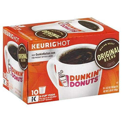 Expect More Dunkin' Donuts Original Blend Medium Roast Coffee K-Cups 10 x 0.37 oz pack of 6