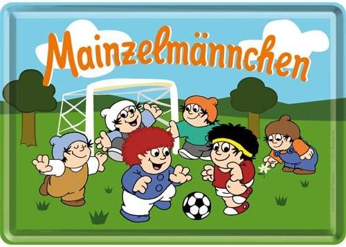 Blechpostkarte Nostalgic-Art 10173 Mainzelm/ännchen Fu/ßball 10 x 14 cm
