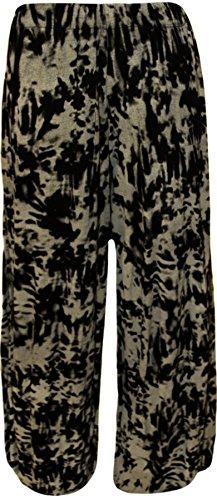 WearallPantalon 54 Dye Imprimé Femmes 40 À Pantalons Tailles Et Évasé Tie Grandes 0wNnmyv8O
