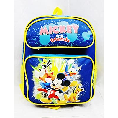 """Small Backpack - Disney - Mickey Mouse & Friend Blue 12"""""""