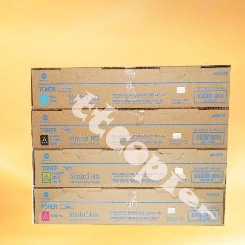 Konica Part# A33K132. A33K232. A33K332. A33K432 Toner Cartridge Set (OEM - TN512)