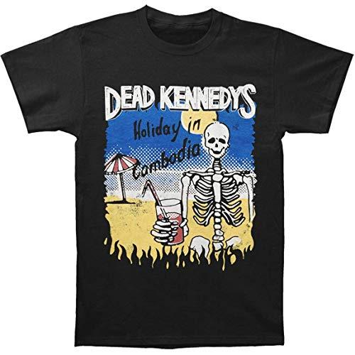 UUKI Dead Kennedys Men's Cambodian Skeleton T-Shirt Black]()