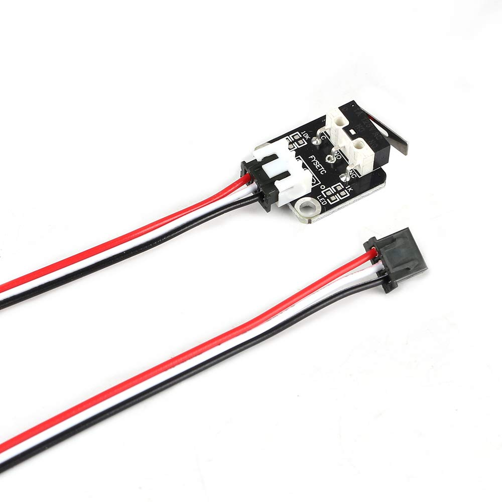 FYSETC Creality Lot de 3 accessoires pour imprimante 3D Limit Swich Module interrupteur m/écanique avec 3 broches 39,4 cm C/âble pour RepRap‿CR-10 10S Ender 3 Pro S4 S5 Series
