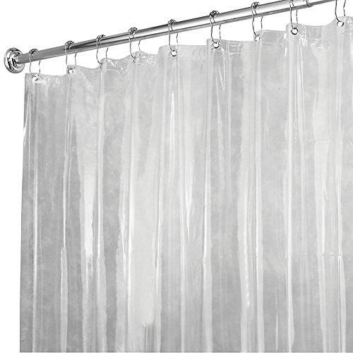 mDesign Vinyl Waterproof Shower Curtain