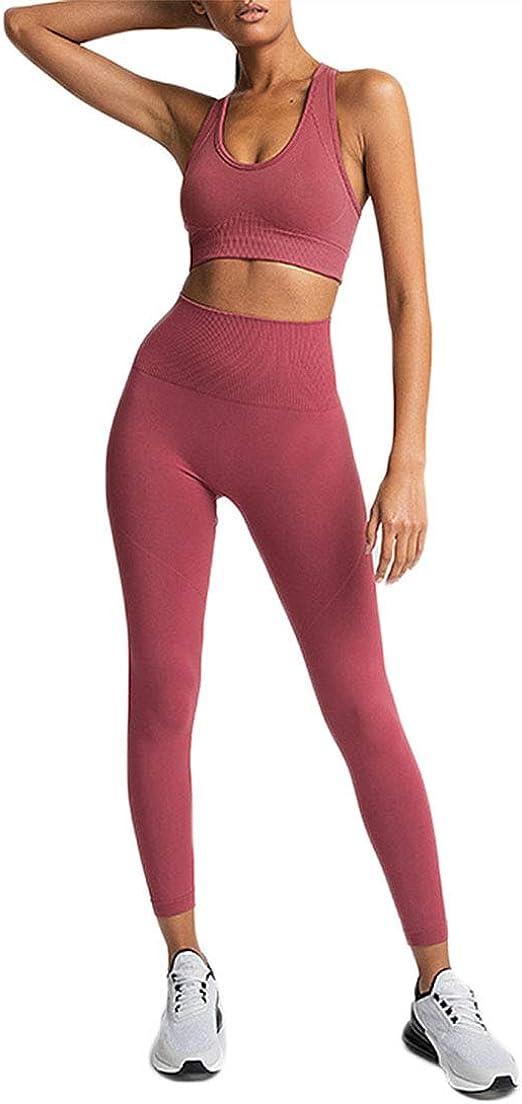 Details about  /Womens Sport Gym Yoga 2Pcs Vest Bra Sports Legging Pants Outfit Wear Set