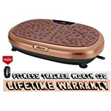 EILISON KM-818 Powerful Vibration Plate Exercise Machine - Whole Body Workout Vibration Fitness Platform w/Loop Bands - Home Training Equipment for Weight Loss & Toning (Fitness Watch Inside)