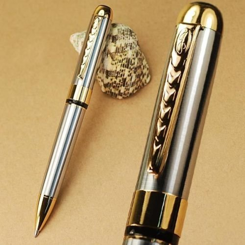 250 Silver and Gold Twist Ballpoint Pen New - 1