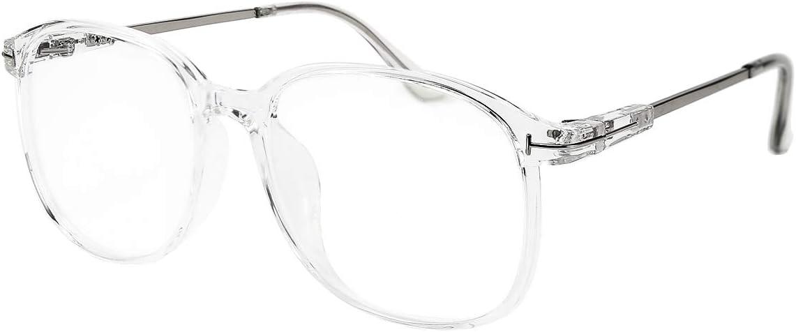 FEISEDY Blue Light Blocking Glasses Square Vintage Eyewear TR90 Lightweight Frame Computer Eyeglasses for Women Men B2598