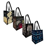 The Coop Game of Thrones 4 Pack Reusable Grocery Tote Bags - Not Machine Specific