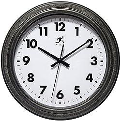 Infinity Instruments Magnus 11.5 Inch Antique Black Wall Indoor/Outdoor Clock