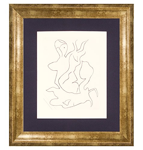 Edition Etching Rag - Jean Arp 'Paroles Peintes II, 1965'. Custom framed etching on archival cotton rag paper. Limited Edition. Framed size: 22