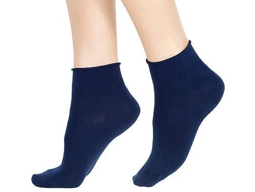 Non stringe Calze Uomo//Donna in Cotone Calzini Corti Sportivi Senza Elastico calzino Comfort Tinta Unita