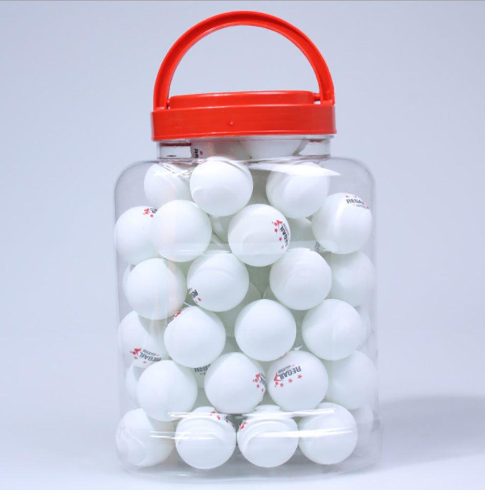 Newness World 60pcs /ロットPing Pong Balls 4 cmオレンジテーブルテニスボールインドア、アウトドアスポーツ、生徒と大人のエンターテイメントスポーツ(ホワイト) B07FXNHL99