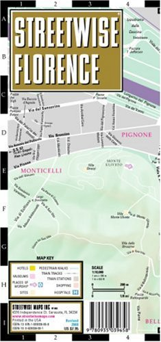Streetwise Florence Map - Laminated City Center Street Map of Florence, Italy - Folding pocket size travel map