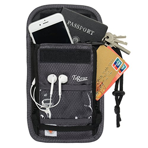 Travel Neck Pouch with Rfid Blocking 2 in 1 Passport Holder & Traveling Wallet for Men &