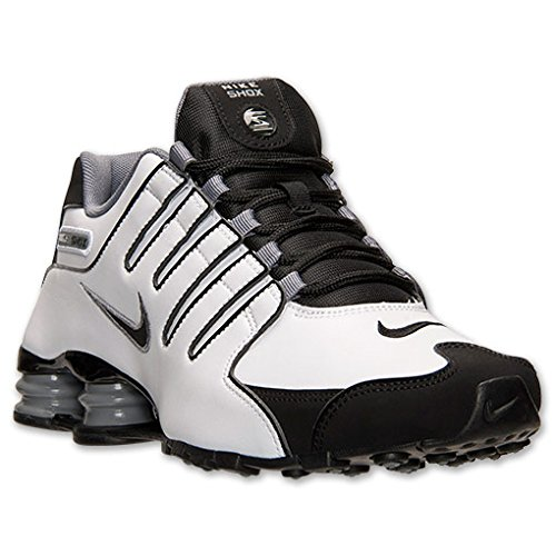 san francisco 2ad73 9d061 Nike Shox NZ Mens Running Shoes 378341-101 White 10.5 M US ...