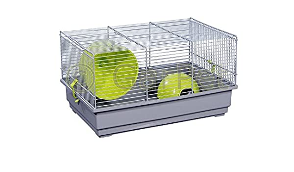 Hámster jaula para roedores ratones jaula con casa Rueda jaula ...