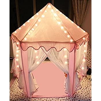 Sherosa Kids Indoor Princess Castle Play Tent - Outdoor Large Children Playhouse with LED Star Lights  sc 1 st  Amazon.com & Amazon.com: Sherosa Kids Indoor Princess Castle Play Tent ...