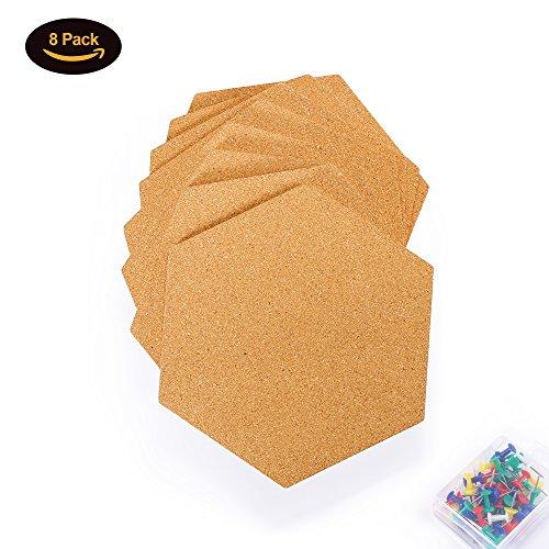 Famistar Hexagon Cork Board Tiles Mini Wall Bulletin Boards