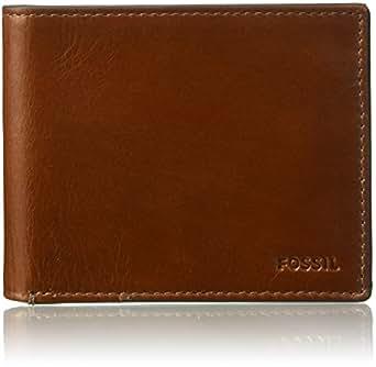 FOSSIL Men's Hugh Wallet, Brown, One Size