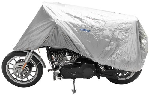 (CoverMax Half Motorcycle Cover - Large/Silver)