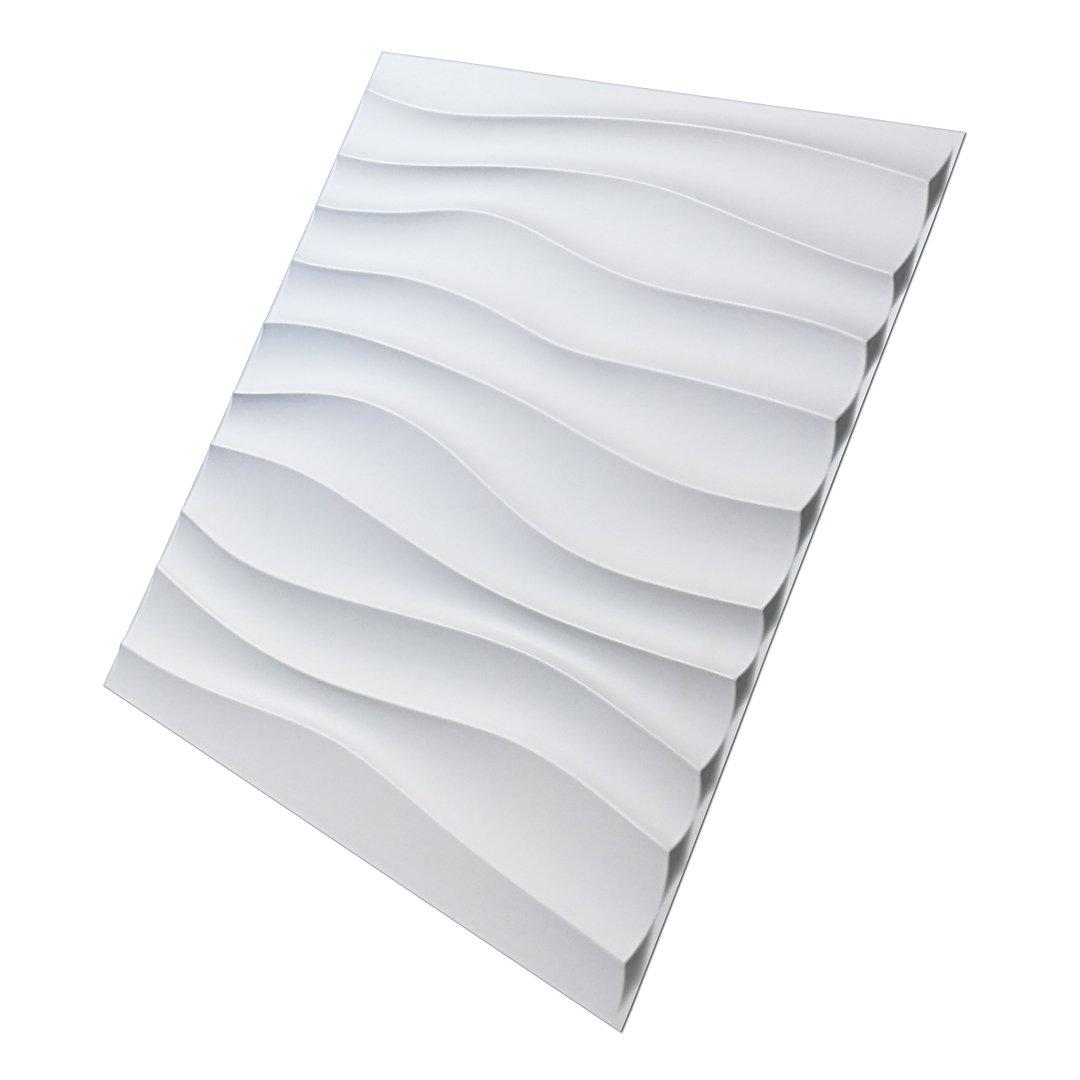 Amazon.com: Art3d Plastic 3D Wall Panel PVC Wave Wall Design, White ...