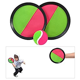 Velcro Paddle Catch Ball Set 2-Pack (Color May Very)