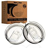 2 Spill Proof Rtic Lids & Yeti Lids Tumbler - NEW Splash Resistant - Straw ...