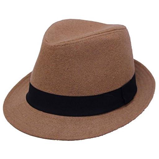 (エクサス)EXAS シンプルメルトン中折れハット(中折れ帽)(サイズ調節可能)