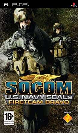 socom u s navy seals fireteam bravo with headset psp socom rh amazon co uk PSP Sony Headphones Socom Tactical Strike PSP
