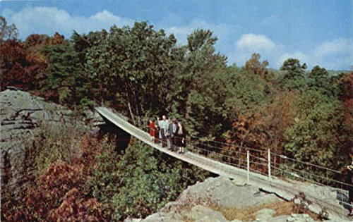 Bridge Swing Along - Swing-Along Bridge Lookout Mountain Chattanooga, Tennessee Original Vintage Postcard