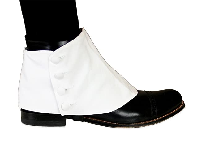 Men's 1920s Shoes History and Buying Guide Cotton Button Spats by Historical Emporium $31.95 AT vintagedancer.com