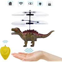 Senhui Flying Ball Toys-Controlled Helicopter Toy & RC Helicopter Dinosaur Toys with Mini Remote and Hand Controlled Dragon Dinosaurs Helicopter for Kids Boys Girls Gifts (Green)