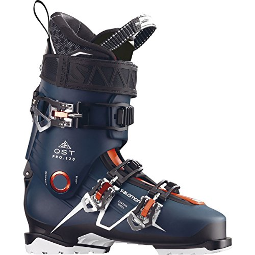 - Salomon QST Pro 120 Ski Boots 2018 - 27.5/Petrol Blue-Black-Orange
