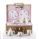 Porcelain Tea St/Basket, Giraffe