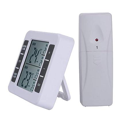 BESTONZON - Termómetro Digital inalámbrico con Sensor inalámbrico para refrigerador y congelador