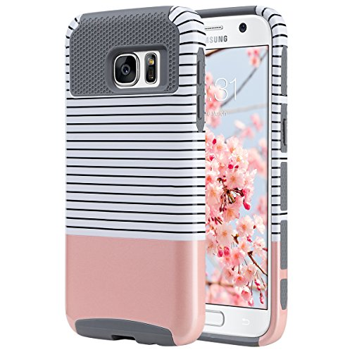 Shockproof Hybrid Case for Samsung Galaxy S6 Edge (Black/Gold) - 3