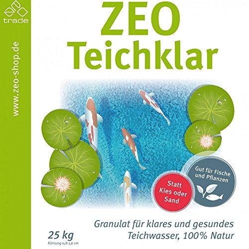 Zeolith Teich klar 25 kg Granulat Wasser Filterung Reinigung Kies Algenvernichter Naturmaterial Filter Teicherde