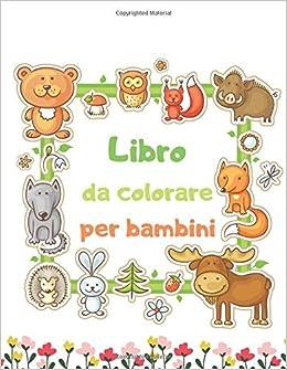 Libro Da Colorare Per Bambini Simpatico Animale Cane Gatto
