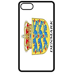 Denmark Coat Of Arms Flag Emblem Black Apple Iphone 5 Cell Phone Case - Cover